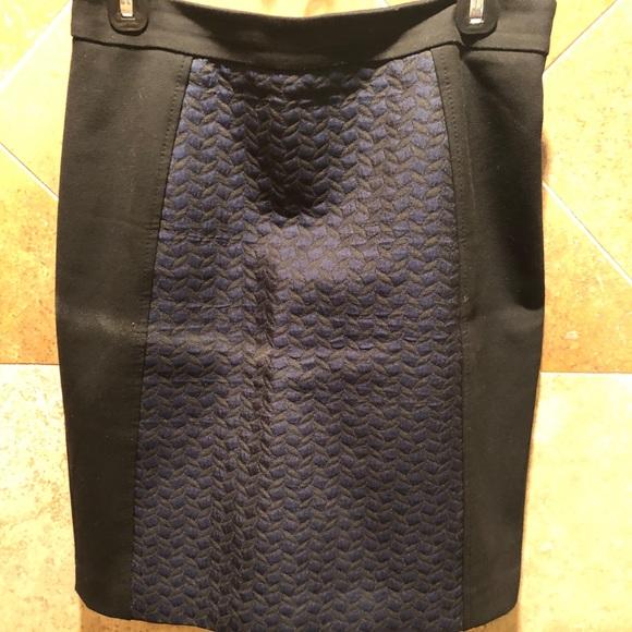 Halogen Dresses & Skirts - Halogen Pencil Skirt Blue and Black Houndstooth